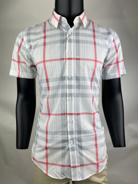 Casual Shirt CS1903 Red Short Sleeves
