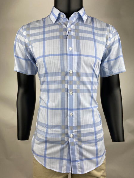 Casual Shirt CS1903 Blue Short Sleeves