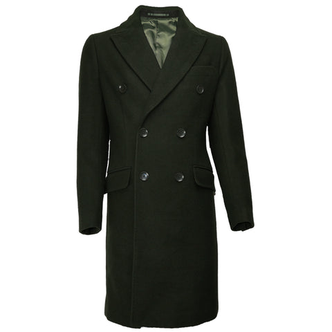 Wool Overcoat JW1902 Olive Green