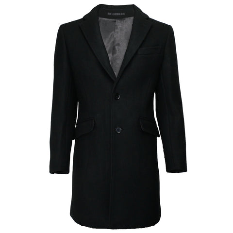 Wool Overcoat JW1903 Black