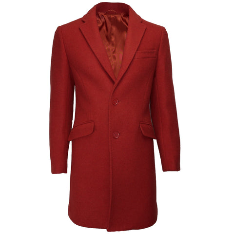 Wool Overcoat JW1903 Red