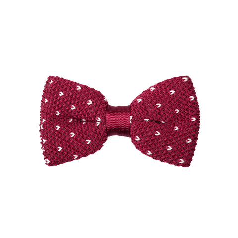 Knit 18 Dark Scarlet White / Bow Tie