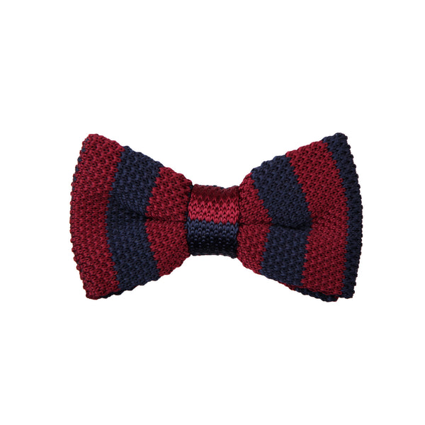 Knit 27 Burgundy Navy / Bow Tie