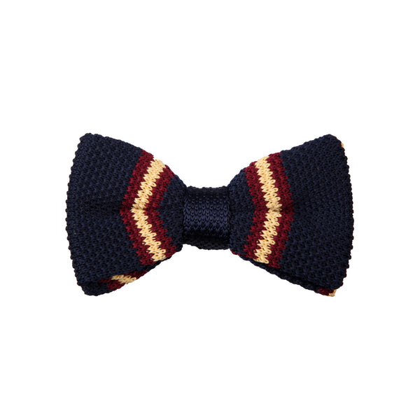 Knit 36 Burgundy Navy Yellow / Bow Tie