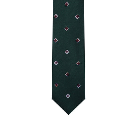 L0015 Green Red Silk Tie