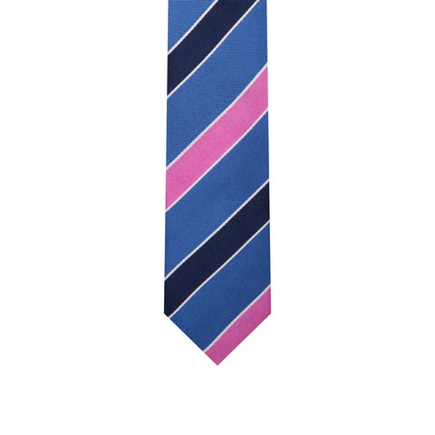 L0066 Blue Purple Silk Tie