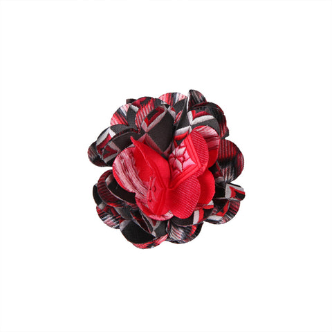 Lapel Pin - Marygold Black Red Diamond
