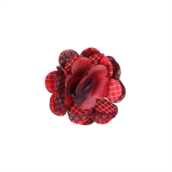 Lapel Pin - Marygold Red Pattern