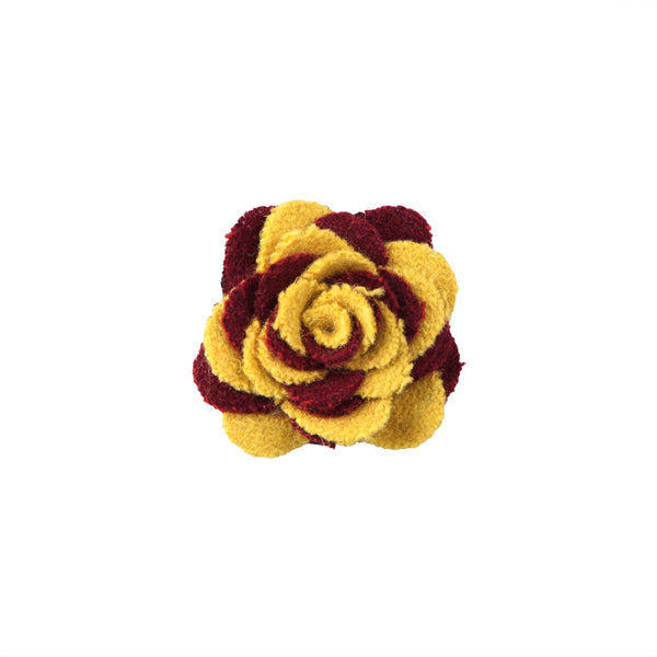 Lapel Pin - Rose Burgundy Mustard