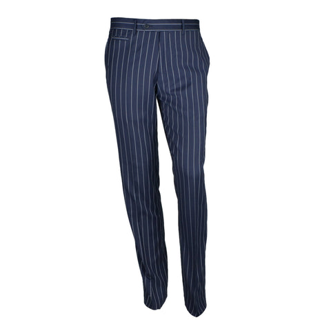 Pinstripe 3-piece Suit MSS600 Navy Slim Fit