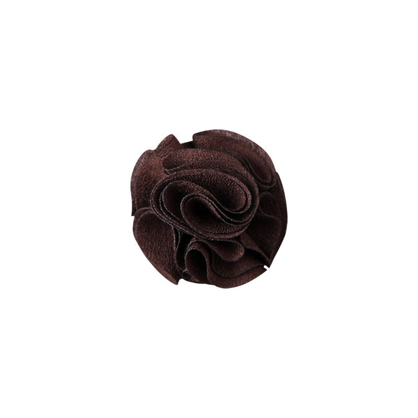 Lapel Pin - Mini Rose Brown