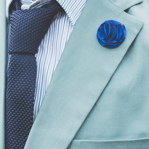 Lapel Pin - Mini Rose Dark Blue