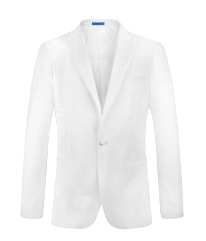 Suit NS1603 White Tuxedo Slim Fit