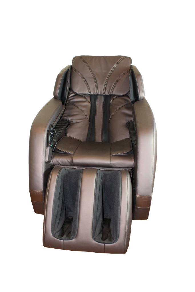 Quantum FDA Luxury Full Body Zero Gravity MassageChair Element Brown with Armrest