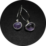 Crystal Purple Earrings