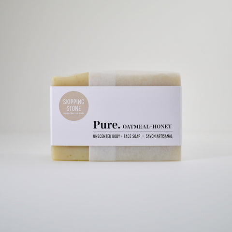 Pure. Oatmeal + Honey Body + Face Soap – unscented
