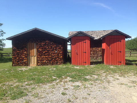 the outhouses