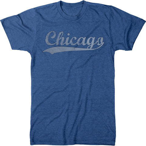 Chicago Swoosh Men's Modern Fit Tri-Blend Crew