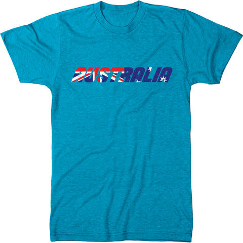 Australia Flag Overlay Men's Modern Fit T-Shirt