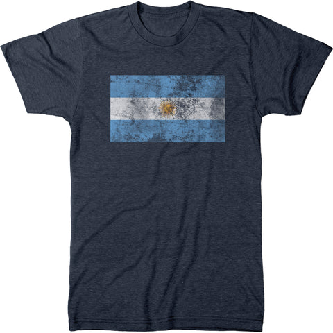 Distressed Argentina Flag Men's Modern Fit T-Shirt