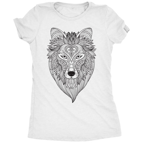 Coloring Shirts - Dire Wolf Womens T-Shirt
