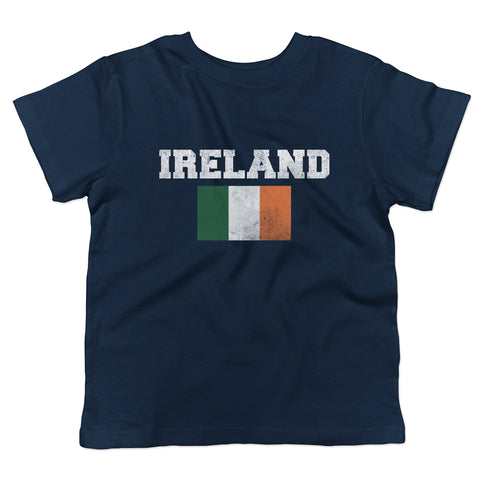Distressed St. Patrick's Day Ireland Flag Toddler T-Shirt