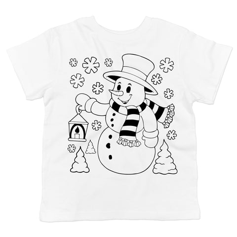 Coloring Shirts - Christmas Snowman Toddler T-Shirt