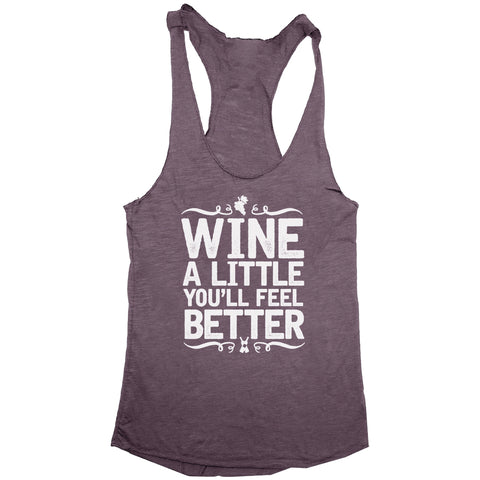 Wine A Little Women's Racerback Tank