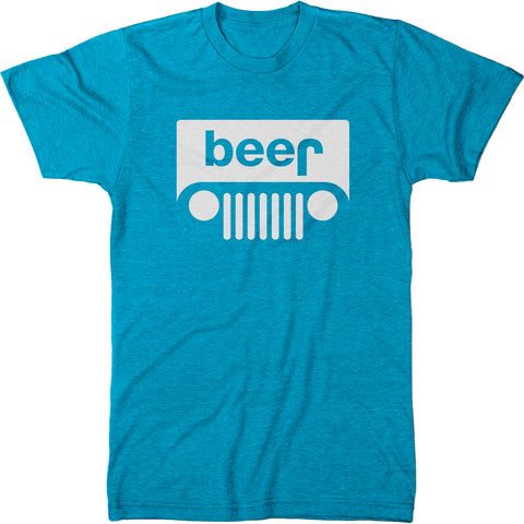 Beer Jeep Logo Men's  Modern Fit T-Shirt