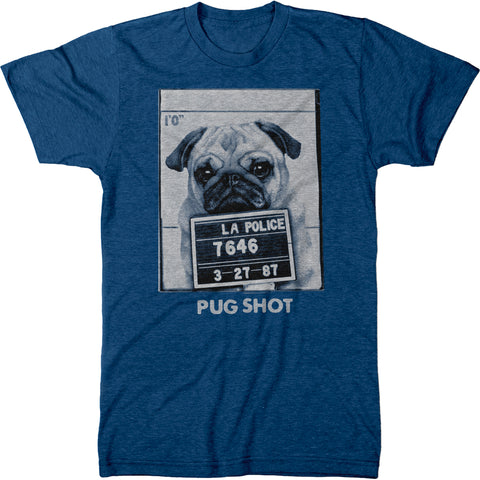 Pug Shot Mens Modern Fit Tri-blend T-Shirt