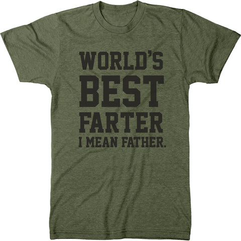 World's Best Farter Father's Day Men's Modern Fit T-Shirt