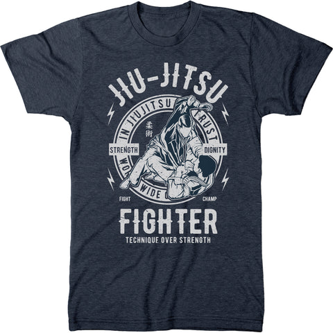 Jiu Jitsu Fighter Men's Modern Fit T-Shirt