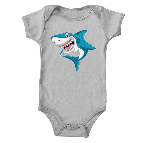 Smiling Shark Infant 100% Cotton One-Piece Bodysuit
