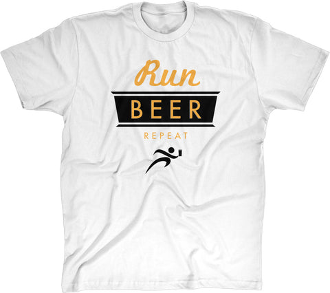 Run, Beer, Repeat Men's Modern Fit 100% Cotton T-Shirt