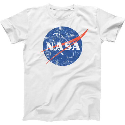 NASA Distressed Meatball Logo Mens 100% Cotton T-shirt