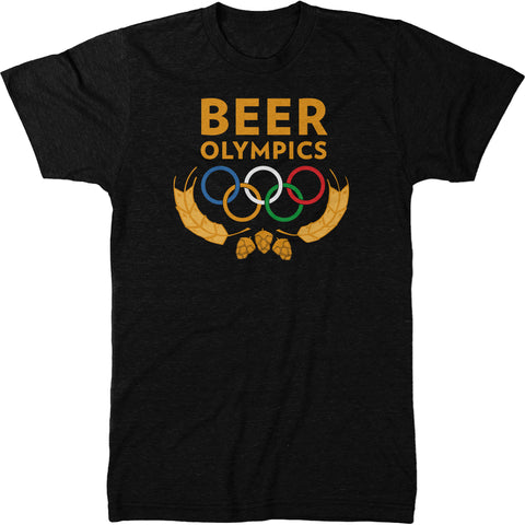 Beer Olympics Is The Best Olympics Mens Tri-Blend T-Shirt