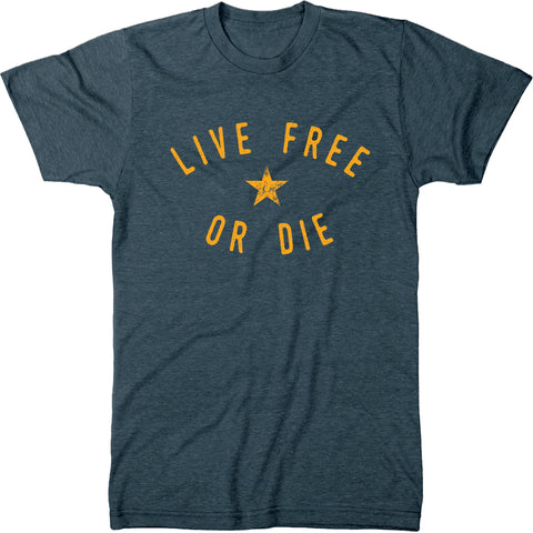 Live Free or Die New Hampshire Motto Mens Modern Fit Tri-blend T-shirt