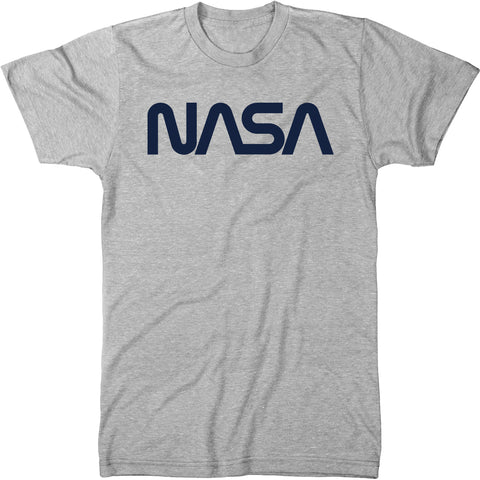 NASA Navy Worm Logo Men's Modern Fit Tri-Blend T-Shirt