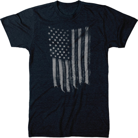 Black & White United States of America Flag Mens Tri-blend T-shirt