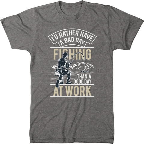Rather Be Fishing Men's Modern Fit T-Shirt