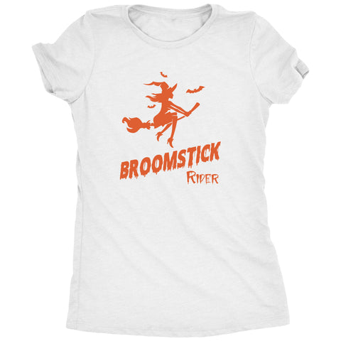 Broomstick Rider Womens Halloween Tri-Blend T-Shirt