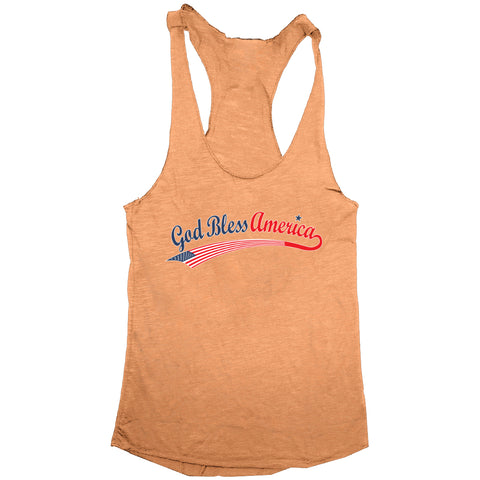 God Bless America Womens Tri-Blend Tank