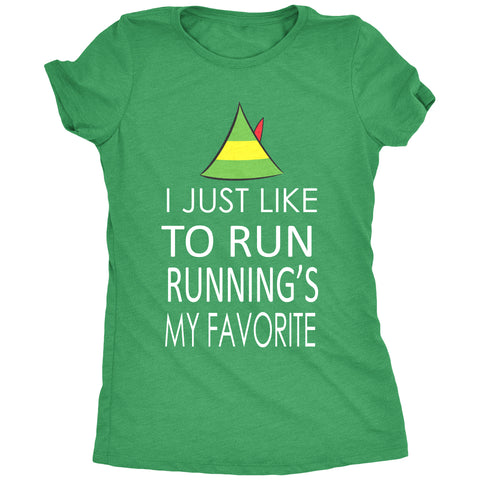 I Just Like To Run Running Is My Favorite Women's T-Shirt
