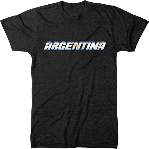 Argentina Flag Overlay Men's Modern Fit T-Shirt
