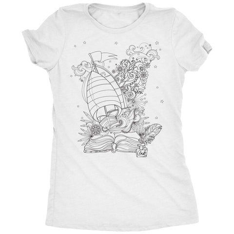 Coloring Shirts - Writer's Dream Womens T-Shirt