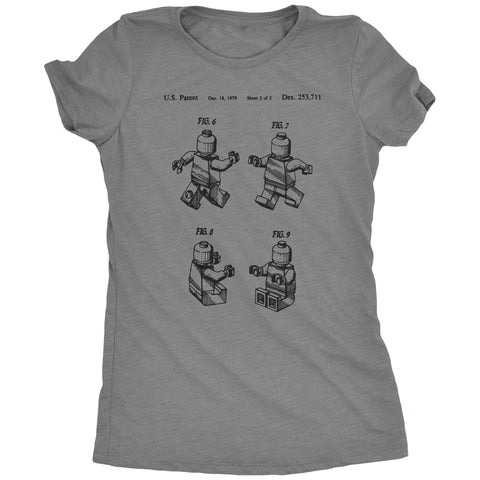 Lego People US Patent Drawing Women's Tri-Blend T-Shirt