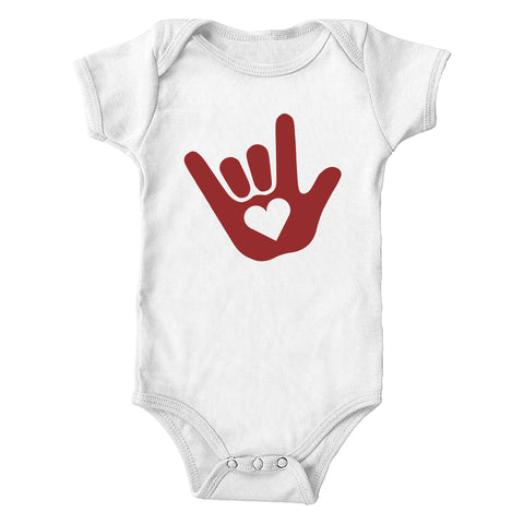 ASL I Love You Sign Language Infant Bodysuit