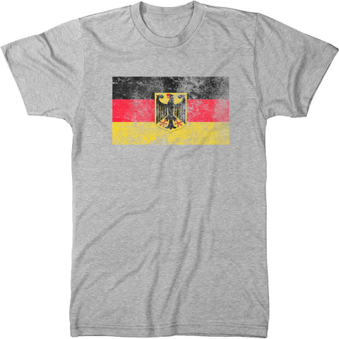 Distressed Germany Flag Men's Modern Fit T-Shirt