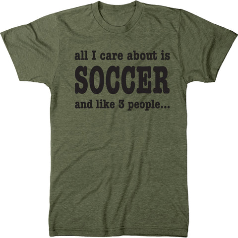 All I Care About Is Soccer Men's Tri-Blend Crew