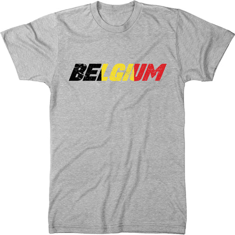 Belgium Flag Overlay Men's Modern Fit T-Shirt